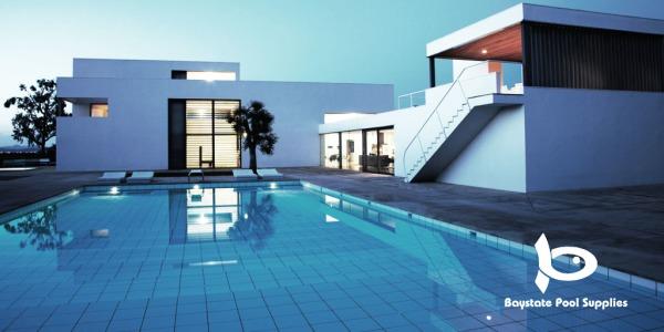 Modern home with backyard pool
