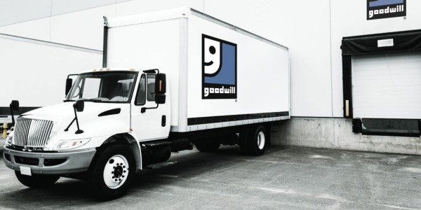Goodwill truck at loading dock