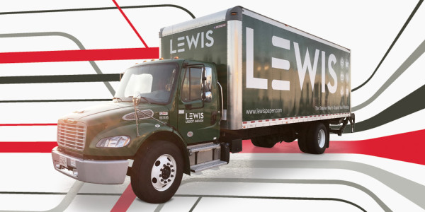 Truck with Lewis branding