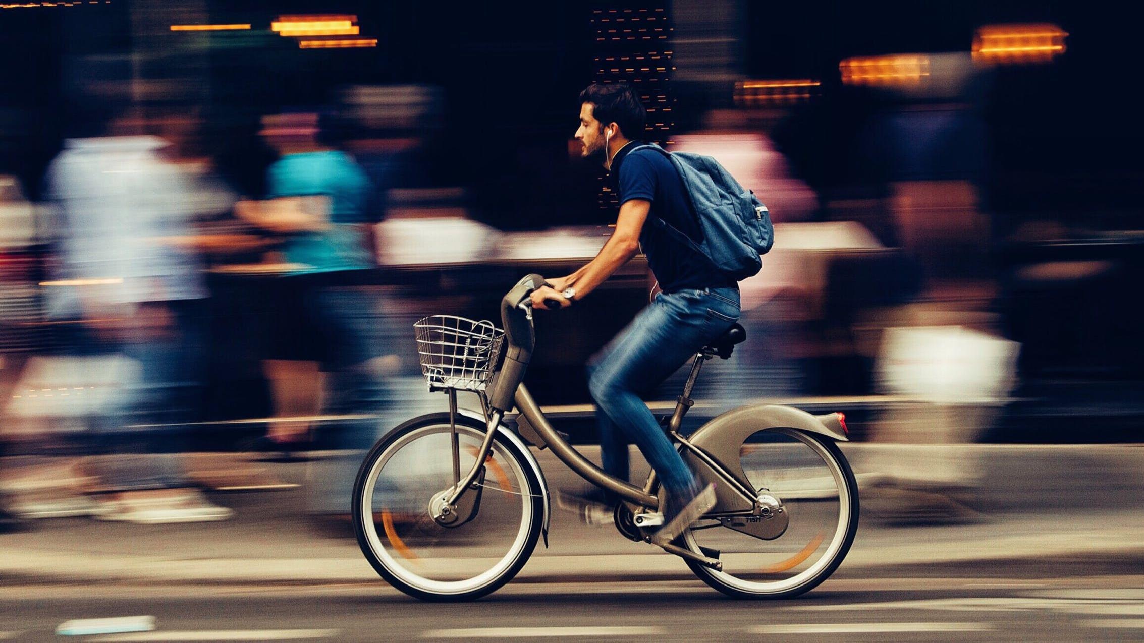 In der Stadt ist man mit dem Rad sowieso viel flexibler.