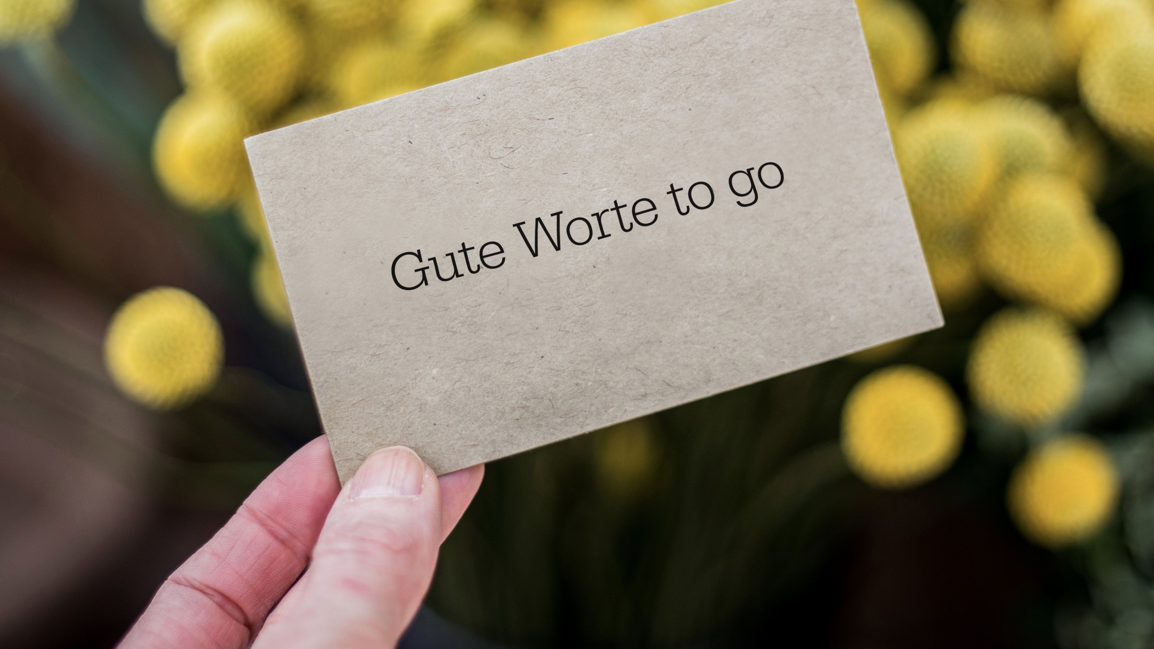 Gute Worte – to go
