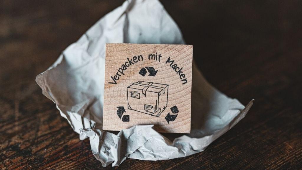 """Der """"Verpacken mit Macken"""" - Stempel"""