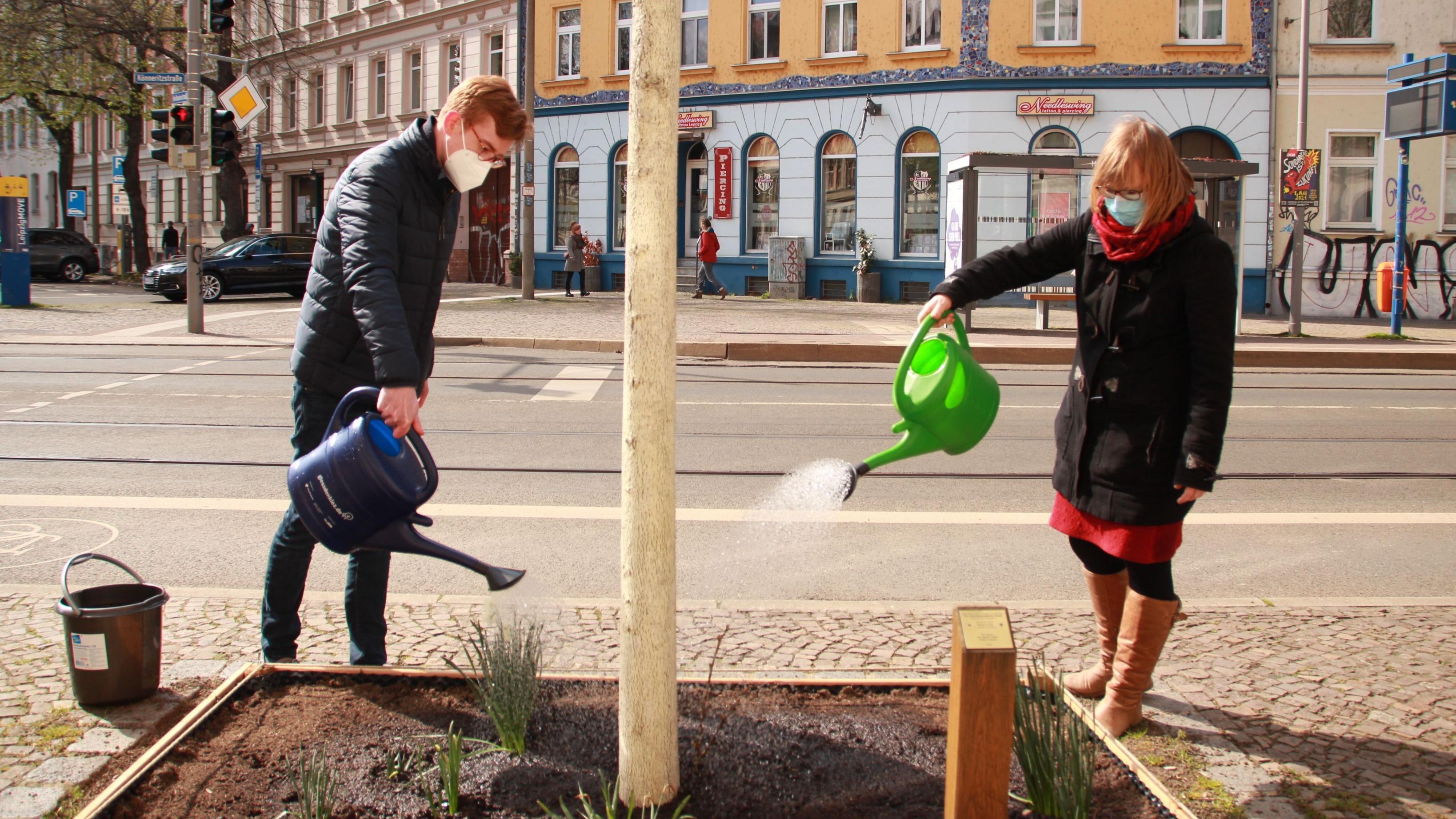 Quentin & Svea vom Team LEIPZIG GIESST | Foto: Raphaela Krumhard