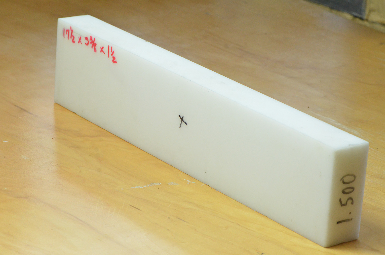 "1.25/"" Delrin Block Natural Acetal Sheet 6.75/""x7/"" Cnc Millstock Plastic 3751"