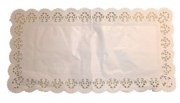 Tortenspitzen Weiss 40x20