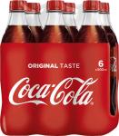 Coca Cola Flasche Pet 6x0,5 lt.
