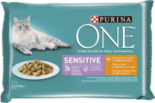 Purina ONE Sensitive Huhn 4x85g