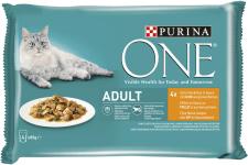 Purina ONE Adult Huhn 4x85gr