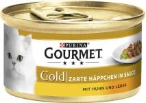 Gourmet Gold Huhnhäppchen in Sauce