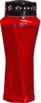 Grablicht Lyra Premium rot
