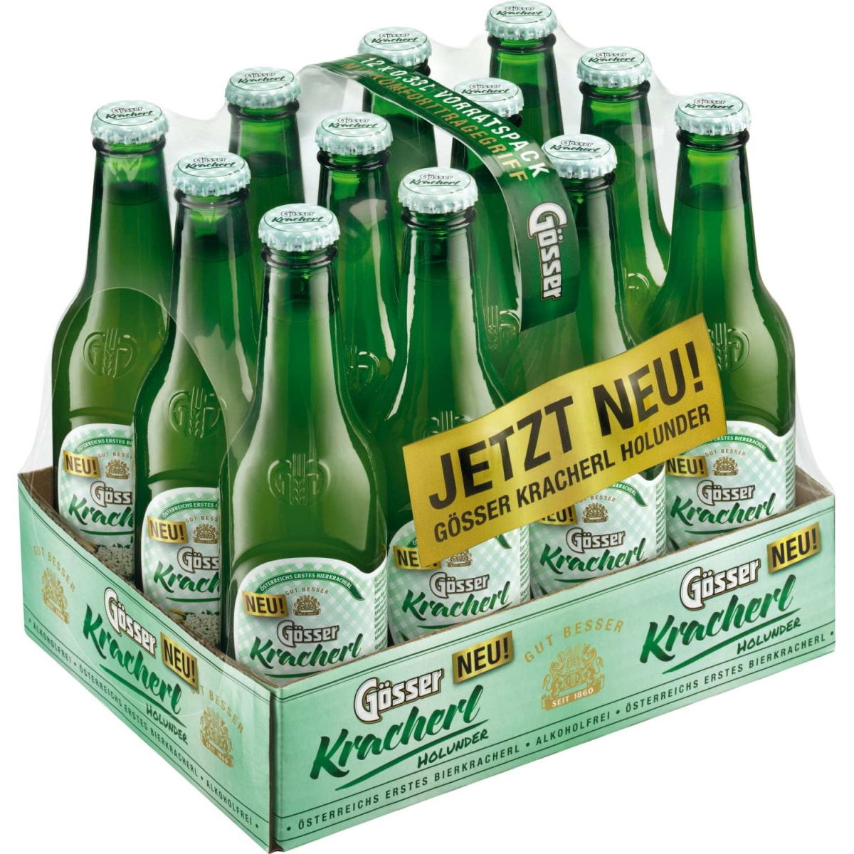 Gösser Kracherl Holunder 12x0,33l Tray