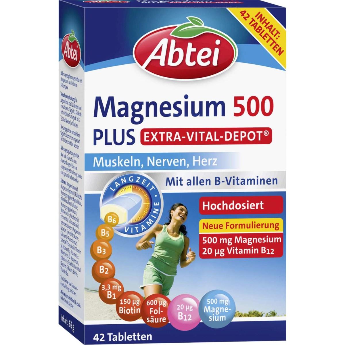 Abtei Magnesium 500 Plus