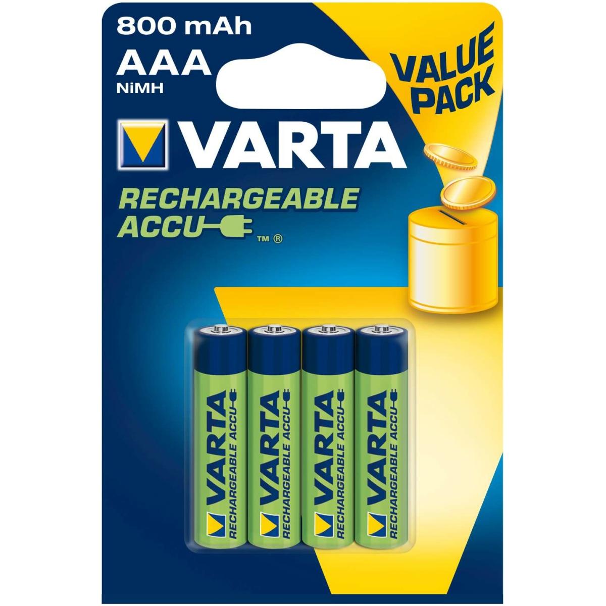 Varta Akku Value Pack Micro 800mAh