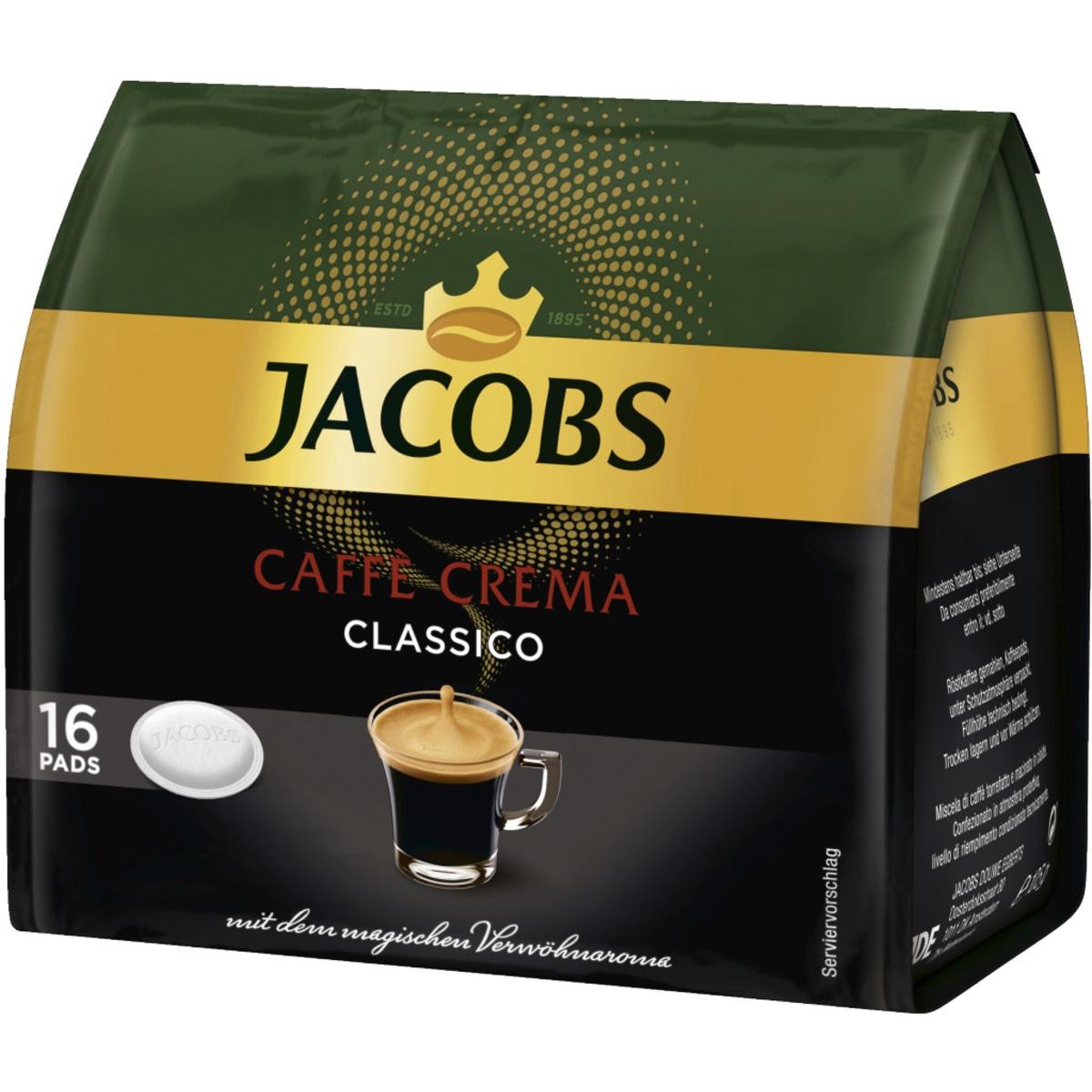 Jacobs Momente Caffe Crema Pads 16er