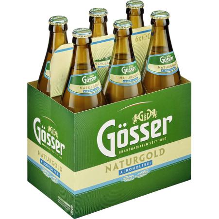 GOESSER Naturgold alkoholfrei 6x 0,5 Liter Mehrweg-Flasche
