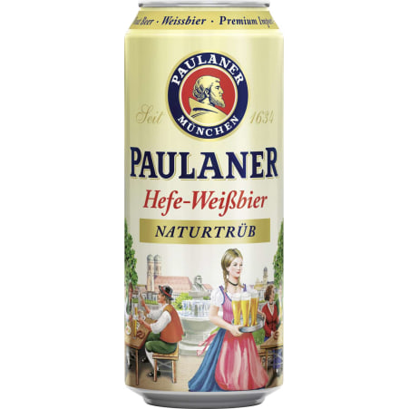 Paulaner Hefe-Weißbier 0,5 Liter Dose