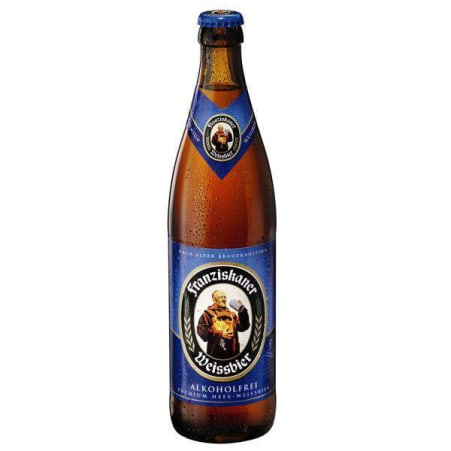 Spaten-Franziskaner-Bräu GmbH Hefeweizen Hell alkoholfrei 0,5 Liter Mehrweg-Flasche