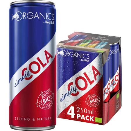 Red Bull Bio Organics Simply Cola Tray 4x 0,25 Liter