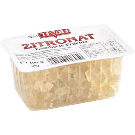 Tivoli Zitronat Kandierte Früchte 100 gr gewürfelt