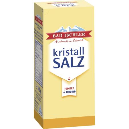 Bad Ischler Kristallsalz jodiert mit Fluorid