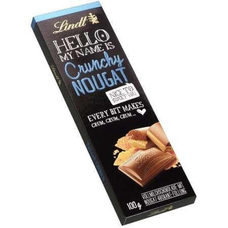 Lindt&Sprüngli Schokolade Hello Nougat Crunch