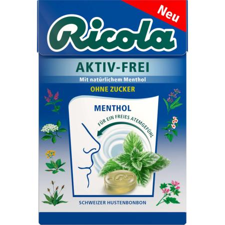 Ricola Aktiv Frei ohne Zucker 50 gr