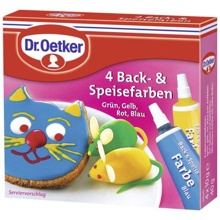 Dr. Oetker Back- und Speisefarben 4er-Packung