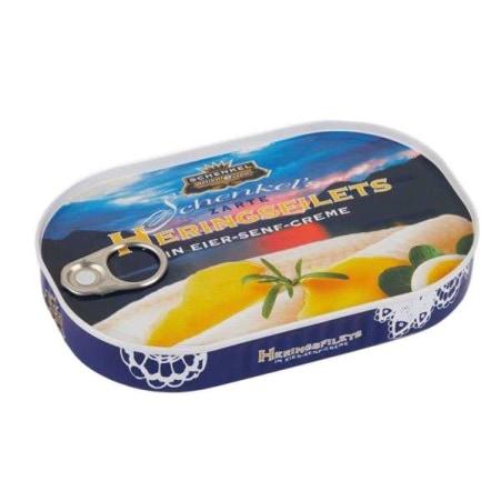 Schenkel Heringsfilets in Eier-Senf-Creme