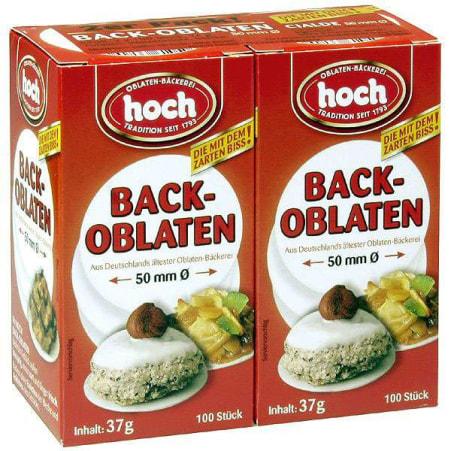 Hoch Backoblaten Backoblaten rund Duo