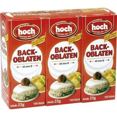 Hoch Backoblaten Backoblatten rund 3er-Packung