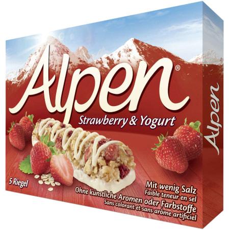 Alpen Erdbeerriegel mit Joghurt