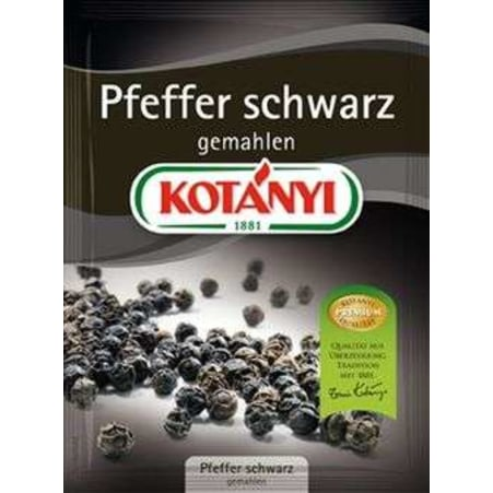 Kotányi Pfeffer schwarz gemahlen 70 gr