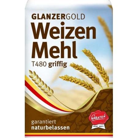 Glanzer Gold Weizenmehl griffig Type 480