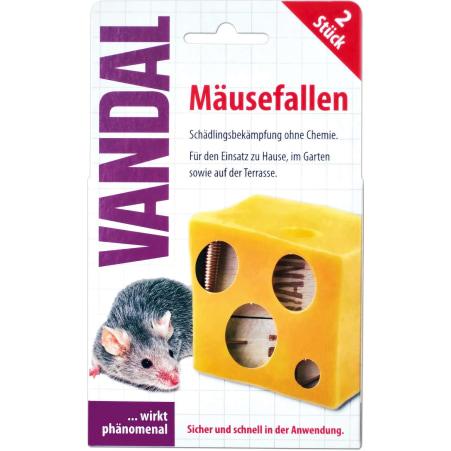 VANDAL Mäusefalle 2er-Packung