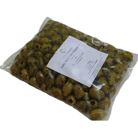 Oliven+Öl Compagnie Oliven Grün Basilikum entsteint