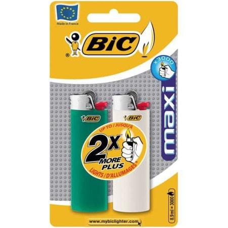 BIC Feuerzeug Maxi 2er-Packung