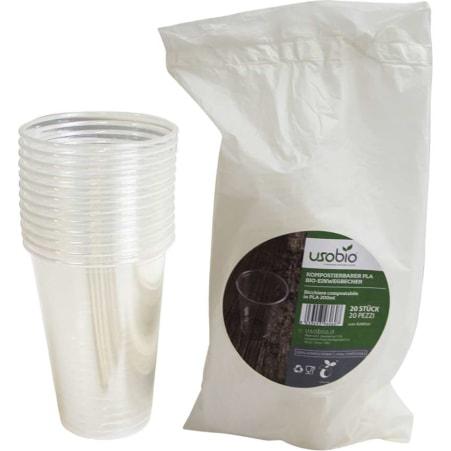 Uso Bio Bio Einwegbecher weiß 200 ml