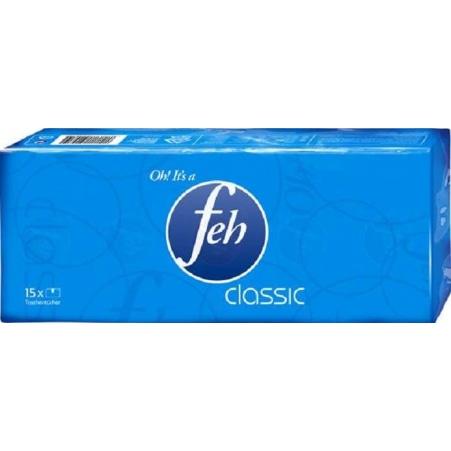 FEH (LB) Classic Taschentücher 15x 9 Stück 4-lagig