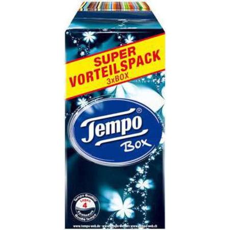 TEMPO Taschentücher Super Vorteilspack Boxen Trio 4-lagig