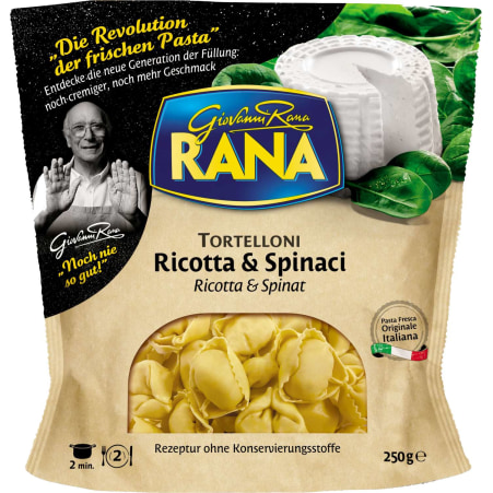 Pastificio RANA S.p.A. Tortelloni Ricotta & Spinat