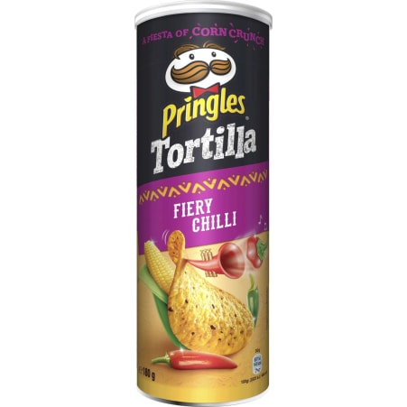 Pringles Chips Tortilla Fiery Chili