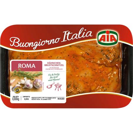 Aia Hähnchenbrust-Schnitzel Roma Marinade