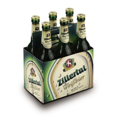 Zillertal Bier Weißbier Hell Tray 6x 0,5 Liter Mehrweg-Flasche