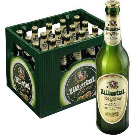 Zillertal Bier Weißbier Hell Kiste 20x 0,5 Liter Mehrweg-Flasche