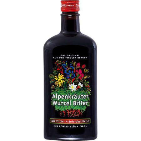 Die Tiroler Kräuterdestillerie Alpenkräuter Wurzel Bitter 25%