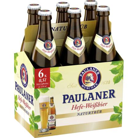 Paulaner Hefe Weißbier Tray 6x 0,5 Liter Mehrweg-Flasche
