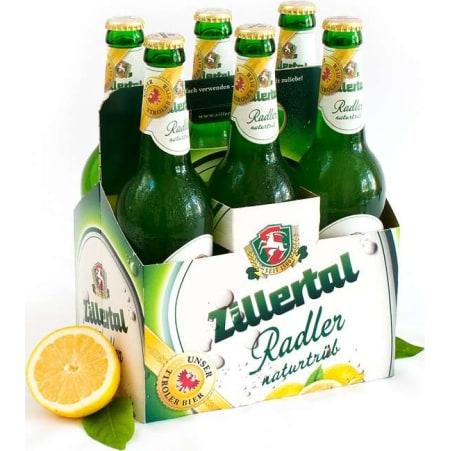 Zillertal Bier Radler naturtrüb Tray 6x 0,5 Liter Mehrweg-Flasche