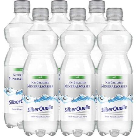 SilberQuelle Mineralwasser still Tray 6x 0,5 Liter
