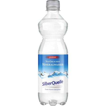 SilberQuelle Natürliches Mineralwasser prickelnd Tray 6x 0,5 Liter