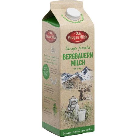 Pinzgau Milch Bergbauernmilch länger frisch 3,5% 1,0 Liter